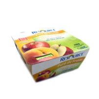 Nestlé Resource Puré de Frutas Sabor a Melocotón-Manzana (4 x 100 gr)