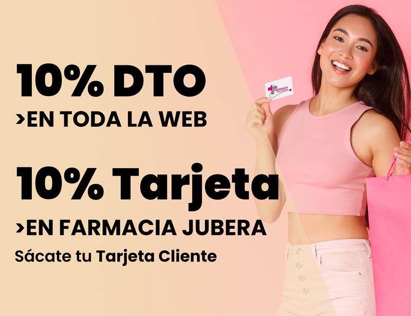 Tarjeta cliente Farmacia Jubera Logroño 10% de descuento